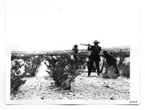 Primary view of object titled '[Revolutionaries on the Lookout]'.