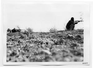 Primary view of object titled '[On the Firing Line]'.