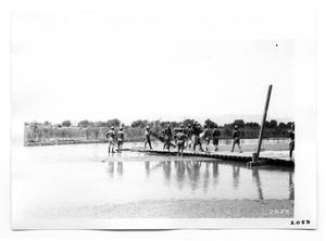 Primary view of object titled '[Construction of a Plank Bridge]'.