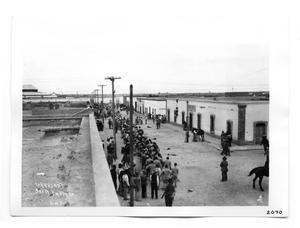 Primary view of object titled '[Street Scene of Juarez, Mexico]'.