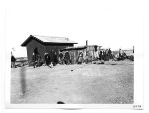 Primary view of object titled '[Red Cross Railroad Shack]'.