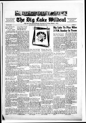 Primary view of object titled 'The Big Lake Wildcat (Big Lake, Tex.), Vol. 27, No. 26, Ed. 1 Friday, July 4, 1952'.
