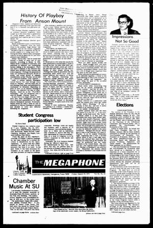 Primary view of object titled 'The Megaphone (Georgetown, Tex.), Vol. 64, No. 16, Ed. 1 Friday, January 15, 1971'.