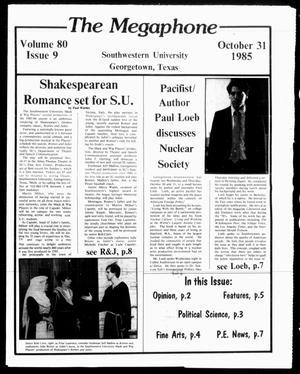 The Megaphone (Georgetown, Tex.), Vol. 80, No. 10, Ed. 1 Thursday, November 7, 1985
