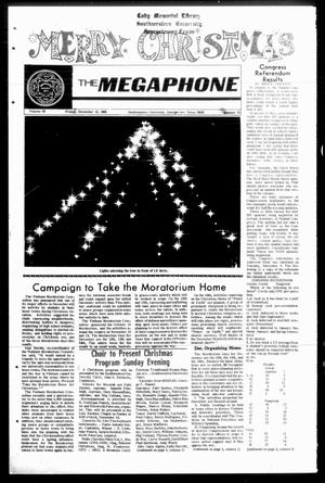 Primary view of object titled 'The Megaphone (Georgetown, Tex.), Vol. 63, No. 13, Ed. 1 Friday, December 12, 1969'.