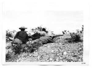 Primary view of object titled '[Rebels Laying Low to the Ground]'.