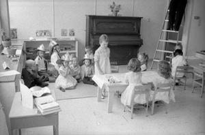Primary view of object titled '[Sunday School at First United Methodist Church]'.