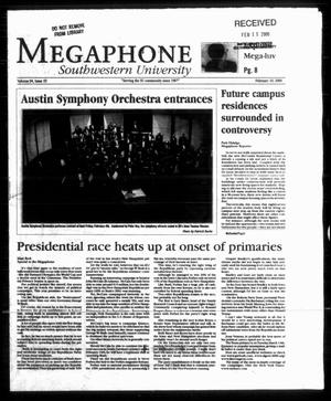 Primary view of object titled 'Megaphone (Georgetown, Tex.), Vol. 94, No. 15, Ed. 1 Thursday, February 10, 2000'.