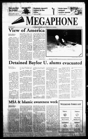 Primary view of Megaphone (Georgetown, Tex.), Vol. 96, No. 09, Ed. 1 Thursday, November 15, 2001