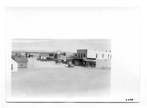 Primary view of object titled '[Street Scene of Columbus, New Mexico]'.