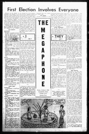 Primary view of object titled 'The Megaphone (Georgetown, Tex.), Vol. 58, No. 4, Ed. 1 Friday, October 2, 1964'.