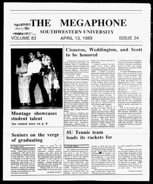 Primary view of object titled 'The Megaphone (Georgetown, Tex.), Vol. 83, No. 24, Ed. 1 Thursday, April 13, 1989'.