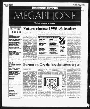 Primary view of object titled 'Megaphone (Georgetown, Tex.), Vol. 89, No. 26, Ed. 1 Thursday, April 13, 1995'.