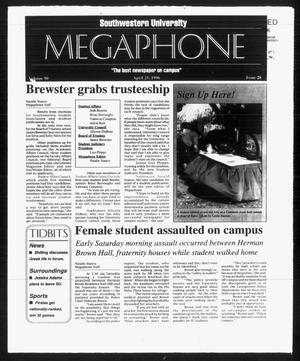 Primary view of object titled 'Megaphone (Georgetown, Tex.), Vol. 90, No. 28, Ed. 1 Thursday, April 25, 1996'.