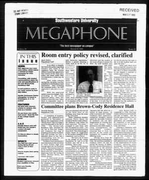Primary view of object titled 'Megaphone (Georgetown, Tex.), Vol. 89, No. 23, Ed. 1 Thursday, March 23, 1995'.