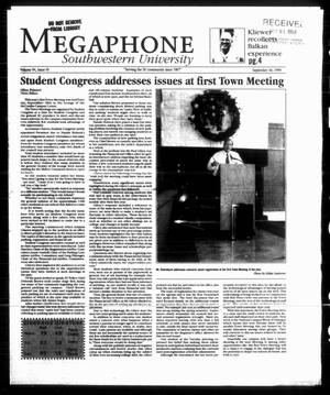 Primary view of object titled 'Megaphone (Georgetown, Tex.), Vol. 94, No. 06, Ed. 1 Thursday, September 30, 1999'.