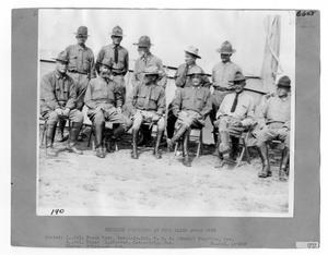 Primary view of object titled '[Officers At Fort Bliss]'.