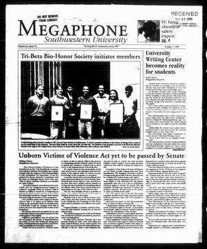 Primary view of object titled 'Megaphone (Georgetown, Tex.), Vol. 94, No. 07, Ed. 1 Thursday, October 7, 1999'.