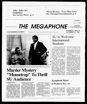 Primary view of object titled 'The Megaphone (Georgetown, Tex.), Vol. 82, No. 10, Ed. 1 Friday, November 13, 1987'.