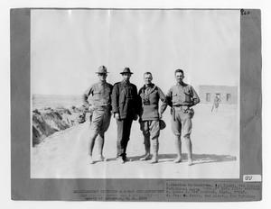 Primary view of object titled '[American Army Officers and War Correspondents]'.