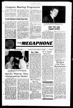 Primary view of object titled 'The Megaphone (Georgetown, Tex.), Vol. 63, No. 05, Ed. 1 Friday, October 10, 1969'.