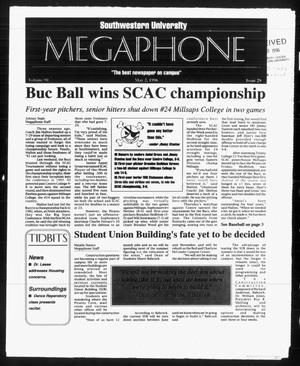 Primary view of object titled 'Megaphone (Georgetown, Tex.), Vol. 90, No. 29, Ed. 1 Thursday, May 2, 1996'.