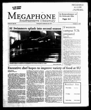 Primary view of object titled 'Megaphone (Georgetown, Tex.), Vol. 94, No. 12, Ed. 1 Thursday, November 18, 1999'.