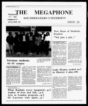 Primary view of object titled 'The Megaphone (Georgetown, Tex.), Vol. 83, No. 20, Ed. 1 Thursday, March 2, 1989'.