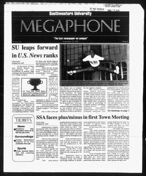 Primary view of object titled 'Megaphone (Georgetown, Tex.), Vol. 90, No. 4, Ed. 1 Thursday, September 21, 1995'.