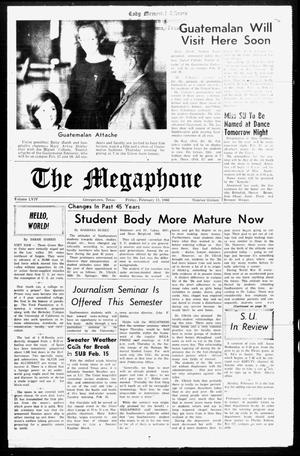 Primary view of object titled 'The Megaphone (Georgetown, Tex.), Vol. 59, No. 16, Ed. 1 Friday, February 11, 1966'.
