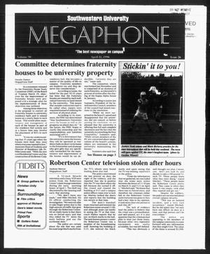 Primary view of object titled 'Megaphone (Georgetown, Tex.), Vol. 90, No. 26, Ed. 1 Thursday, April 11, 1996'.