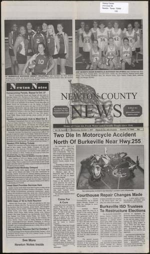 Newton County News (Newton, Tex.), Vol. 39, No. 11, Ed. 1 Wednesday, October 3, 2007