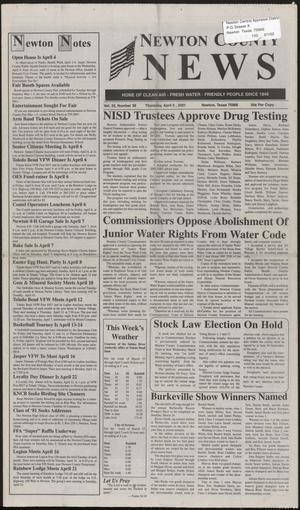 Newton County News (Newton, Tex.), Vol. 32, No. 36, Ed. 1 Thursday, April 5, 2001