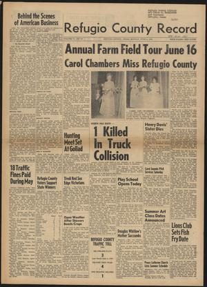 Primary view of Refugio County Record (Refugio, Tex.), Vol. 10, No. 42, Ed. 1 Monday, June 8, 1964