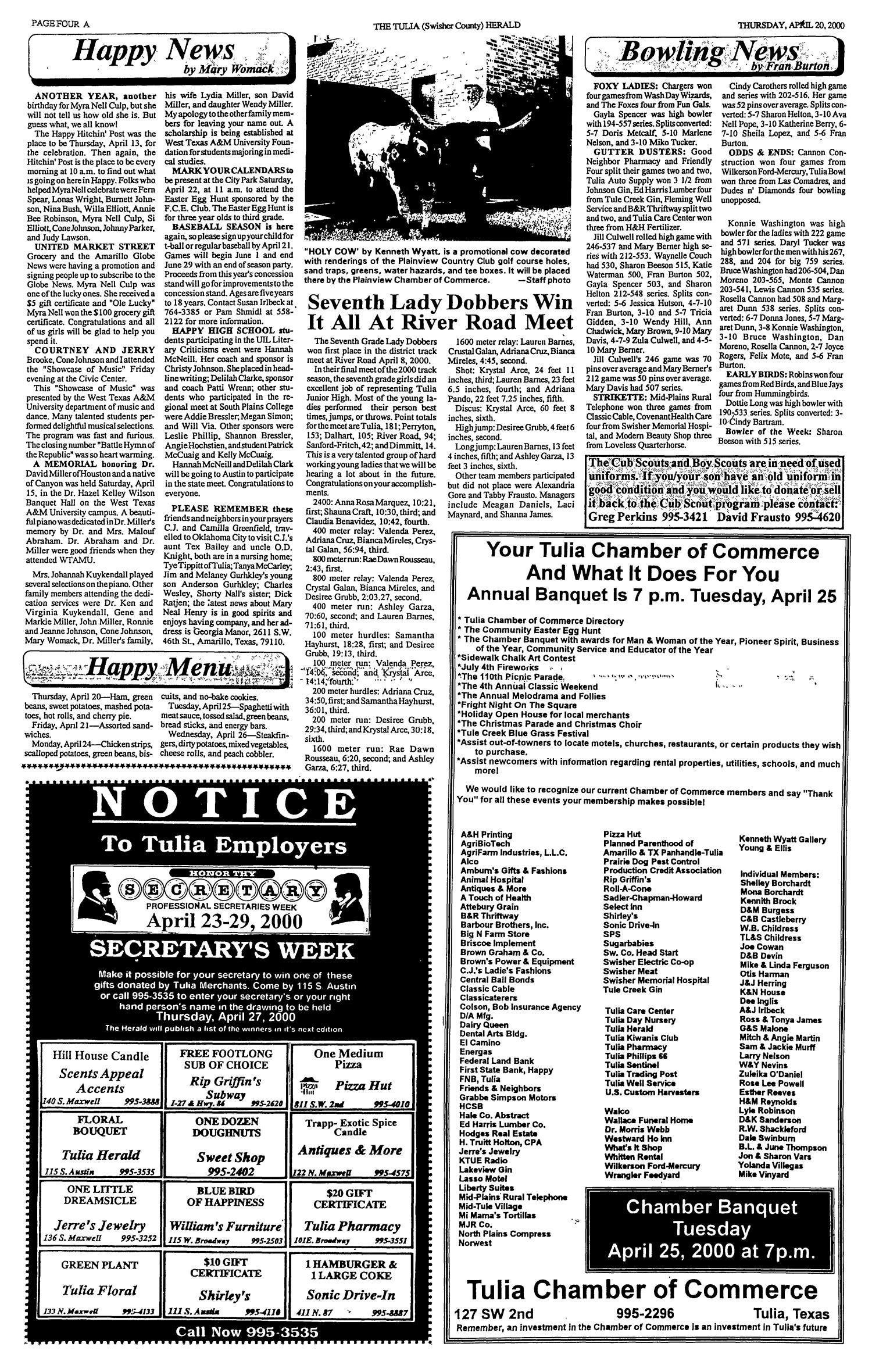 The Tulia Herald Tulia Tex Vol 92 No 16 Ed 1 Thursday