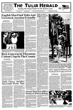 The Tulia Herald (Tulia, Tex.), Vol. 92, No. 29, Ed. 1 Thursday, July 20, 2000