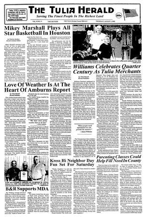 The Tulia Herald (Tulia, Tex.), Vol. 92, No. 31, Ed. 1 Thursday, August 3, 2000