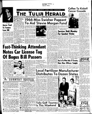 Primary view of object titled 'The Tulia Herald (Tulia, Tex.), Vol. 56, No. 15, Ed. 1 Thursday, April 14, 1966'.