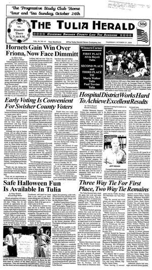 The Tulia Herald (Tulia, Tex.), Vol. 96, No. 43, Ed. 1 Thursday, October 21, 2004