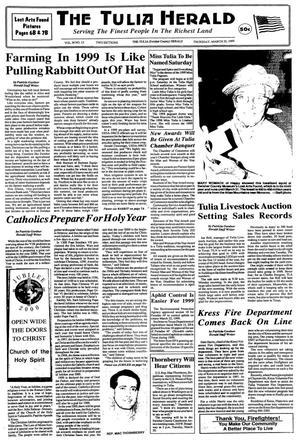 The Tulia Herald (Tulia, Tex.), Vol. 90, No. 12, Ed. 1 Thursday, March 25, 1999