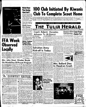 Primary view of object titled 'The Tulia Herald (Tulia, Tex.), Vol. 56, No. 8, Ed. 1 Thursday, February 24, 1966'.