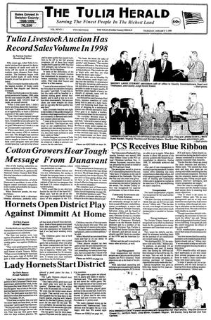 The Tulia Herald (Tulia, Tex.), Vol. 90, No. 1, Ed. 1 Thursday, January 7, 1999