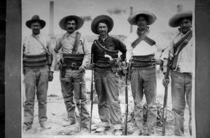 Primary view of object titled '[Group of Armed Men]'.