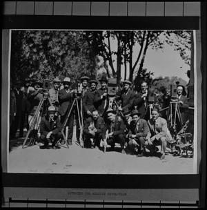 Primary view of object titled '[Large Group of American Camera Men]'.
