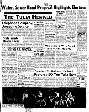 Primary view of object titled 'The Tulia Herald (Tulia, Tex.), Vol. 56, No. 13, Ed. 1 Thursday, March 31, 1966'.