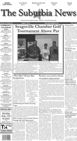 Primary view of object titled 'The Suburbia News (Seagoville, Tex.), Vol. 42, No. 38, Ed. 1 Thursday, August 7, 2014'.