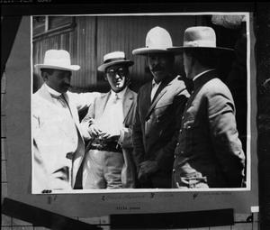 Primary view of object titled '[Portrait of Pancho Villa with a Group of Men]'.