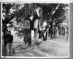 Primary view of object titled '[Mass Hanging in Chihuahua]'.