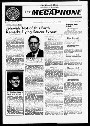 The Megaphone (Georgetown, Tex.), Vol. [60], No. 22, Ed. 1 Friday, April 7, 1967