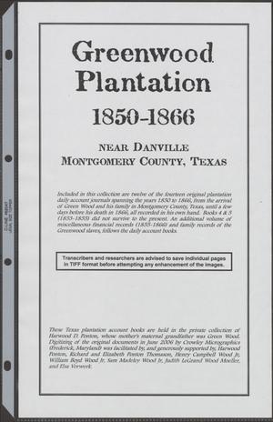 [Greenwood Plantation Accounts Project]